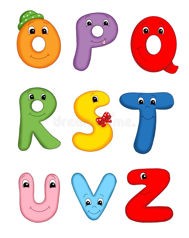 Letters of the alphabet - 3 stock images