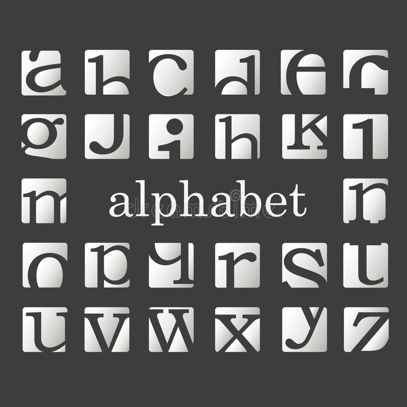 Letters of the alphabet. Fashion letters of the alphabet royalty free illustration