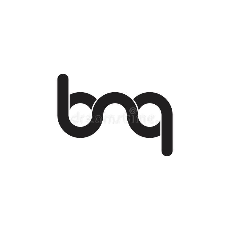 Letters bnq linked wavy line logo vector. Unique unusual luxury elegant simple concept vector illustration