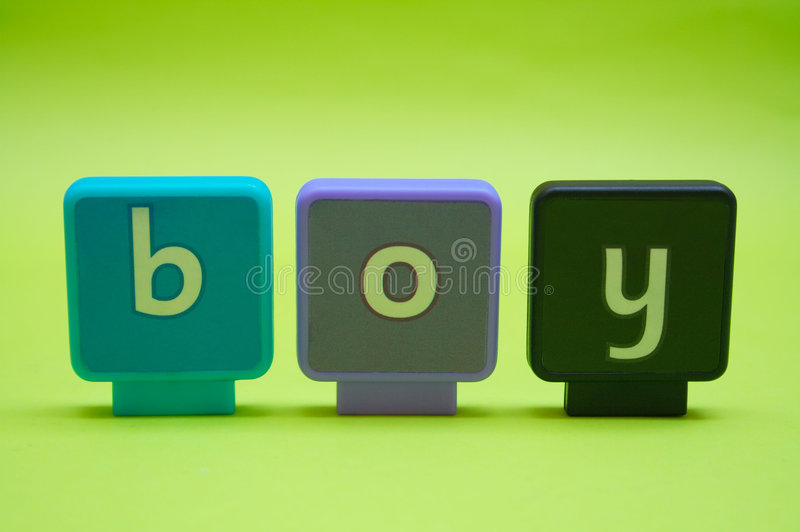 Letters: Boy royalty free stock photo
