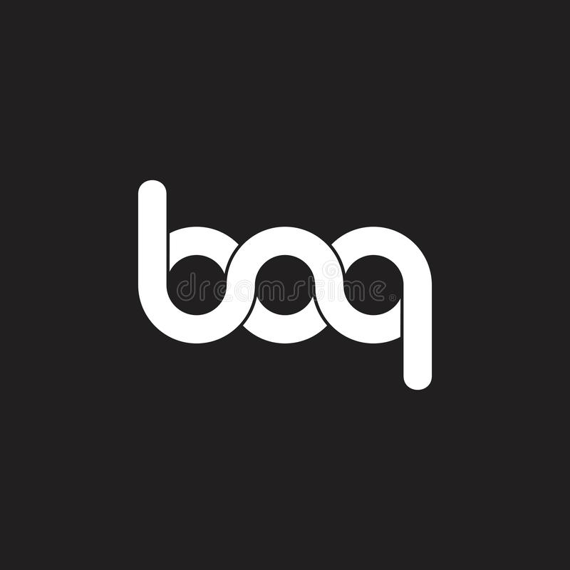 Letters bq linked helix infinity design logo vector. Unique unusual luxury elegant simple concept royalty free illustration