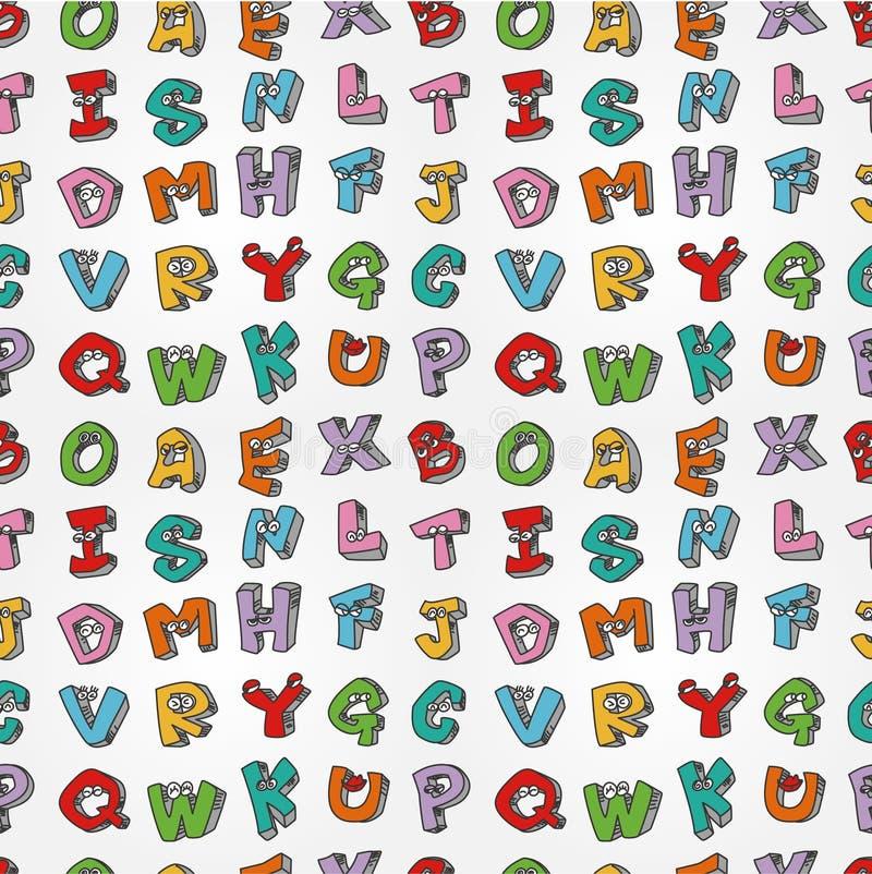 letters den seamless gigantiska modellen royaltyfri illustrationer