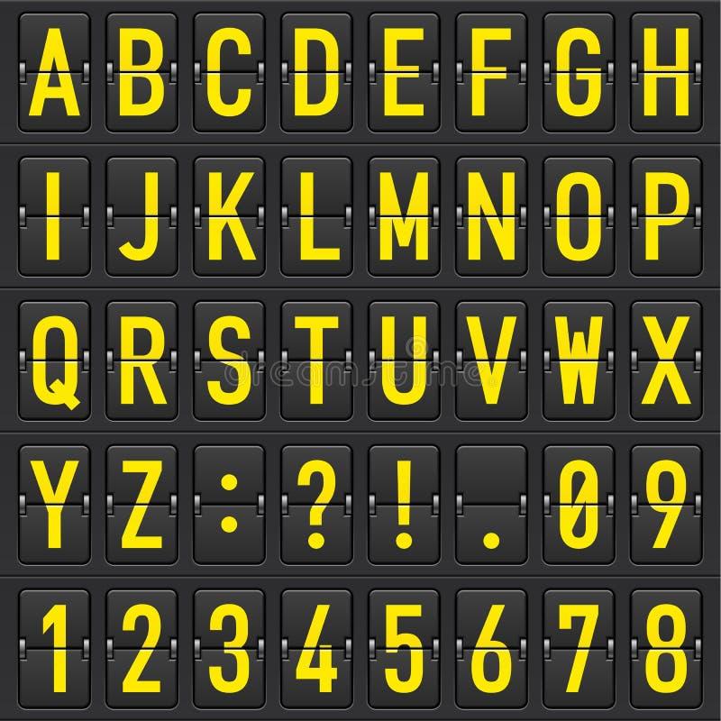 letters det mekaniska setschemat stock illustrationer