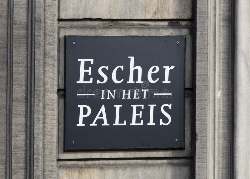 Letters escher in the palace stock images