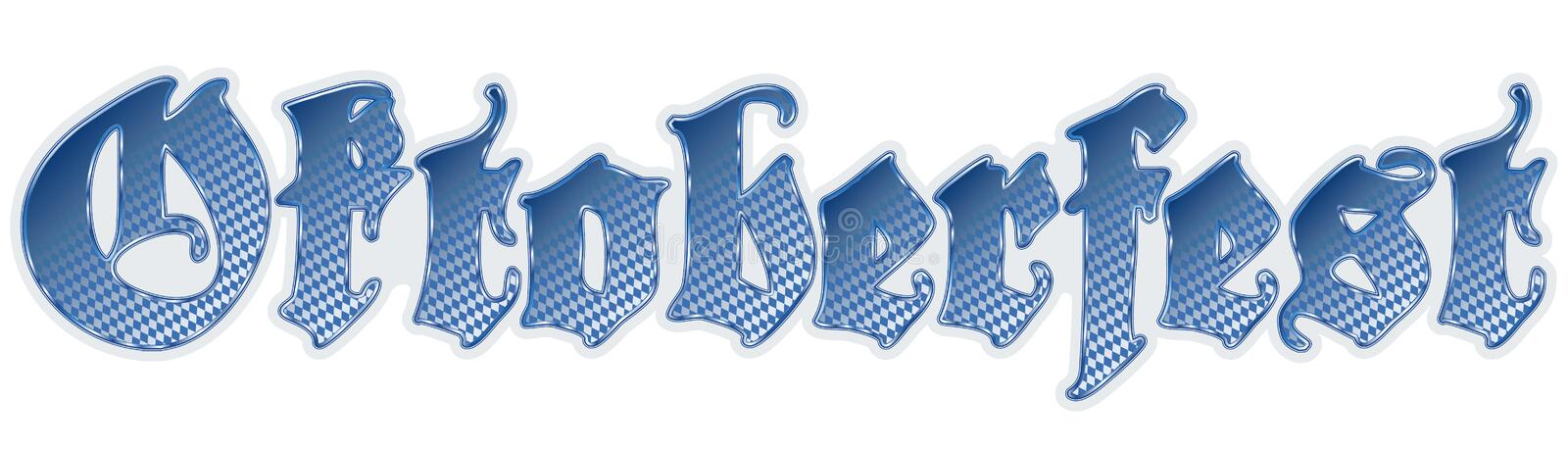 letters german Oktoberfest vector illustration