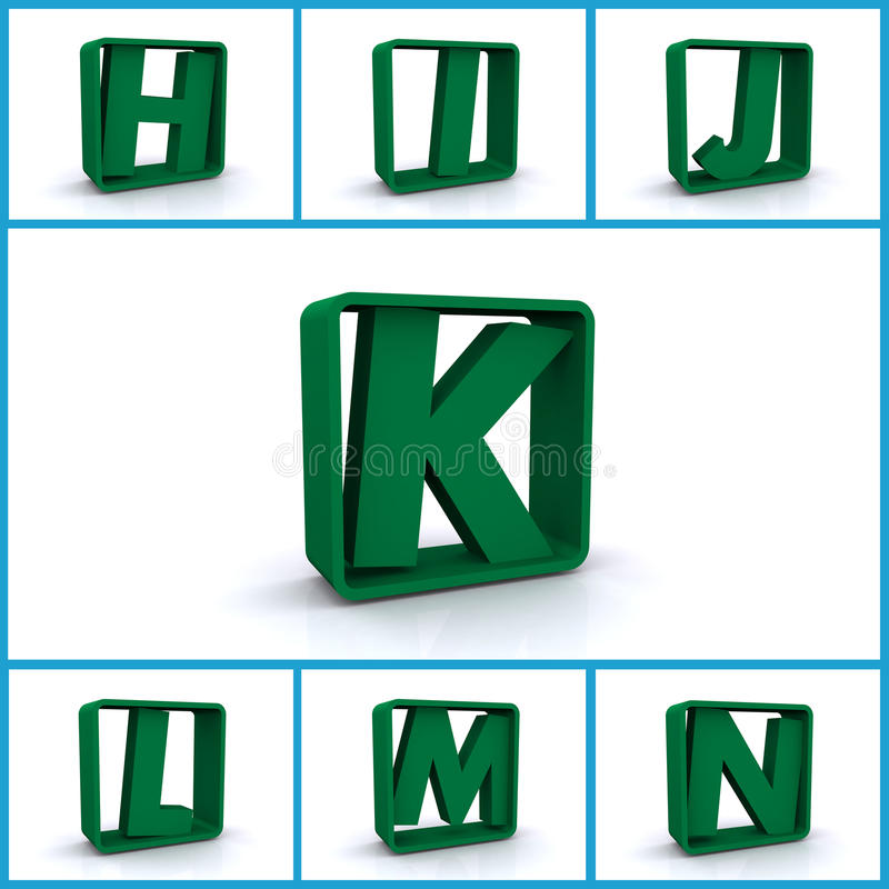 Download Letters H to N stock illustration. Image of blue, alphabet - 28535053
