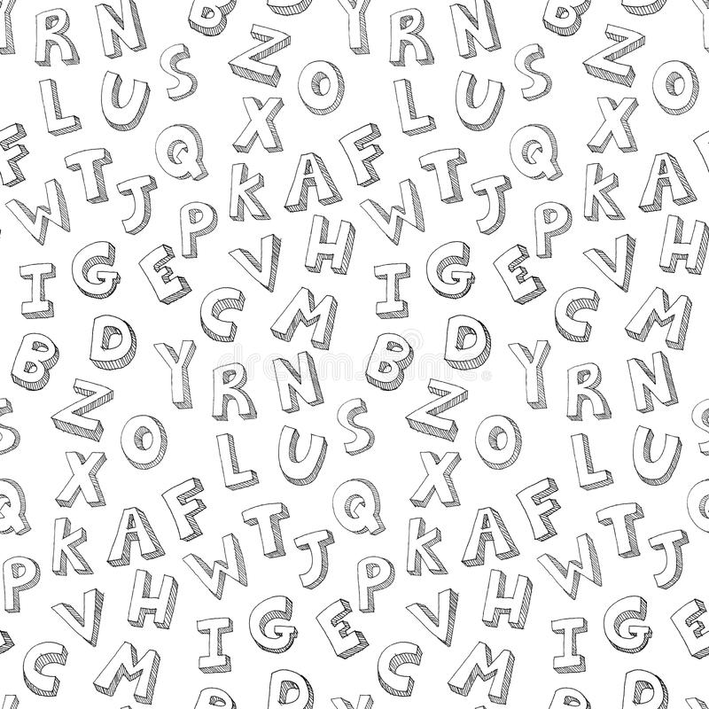 Download Letters Hand Written Pattern Stock Image - Image: 24406471