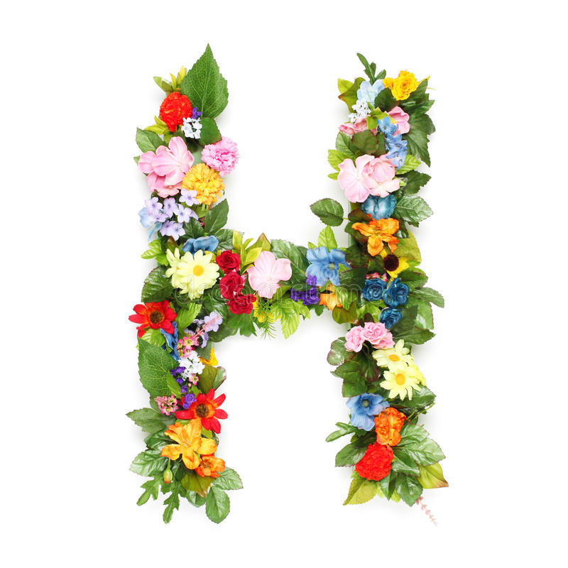 Letters of leaves and flowers royalty free stock images
