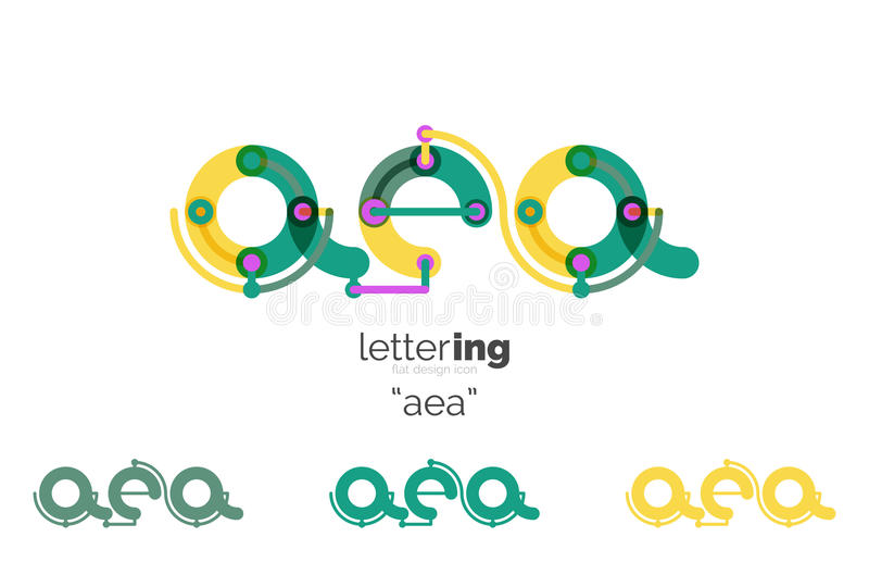 Letters logo icon stock illustration
