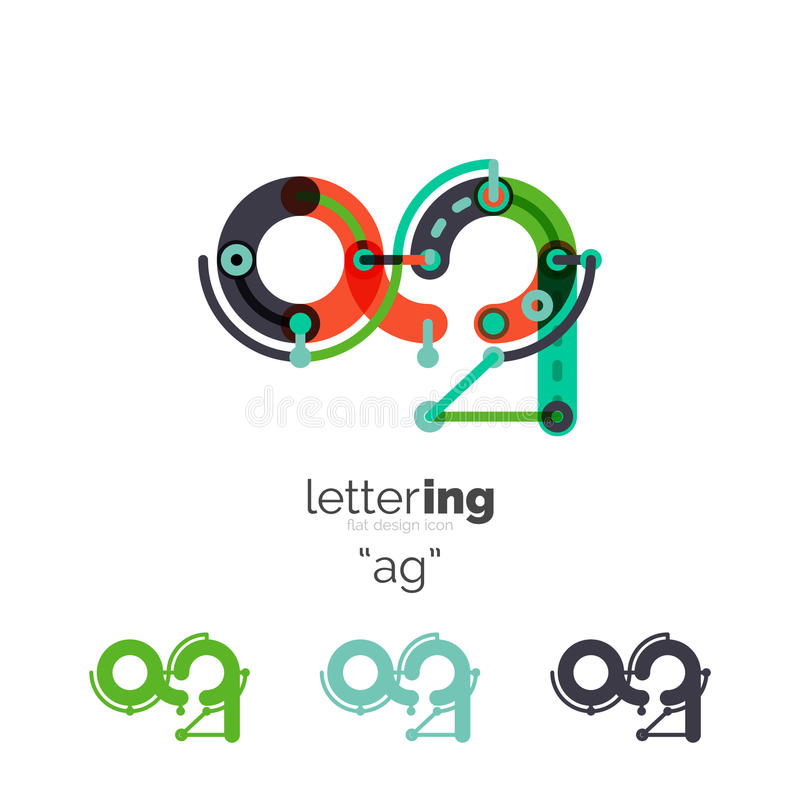 Letters logo icon royalty free illustration