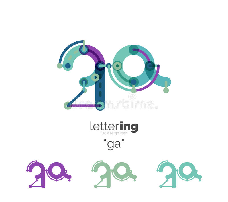 Letters logo icon vector illustration