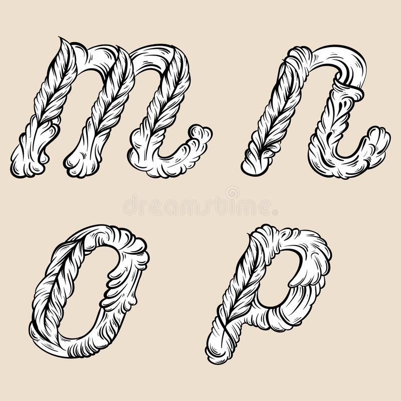 Download Letters M N O P Fairy Hand Drawn Cute