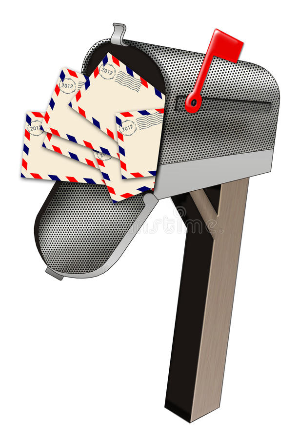 Download Letters in mail box stock illustration. Illustration of contains - 24599529