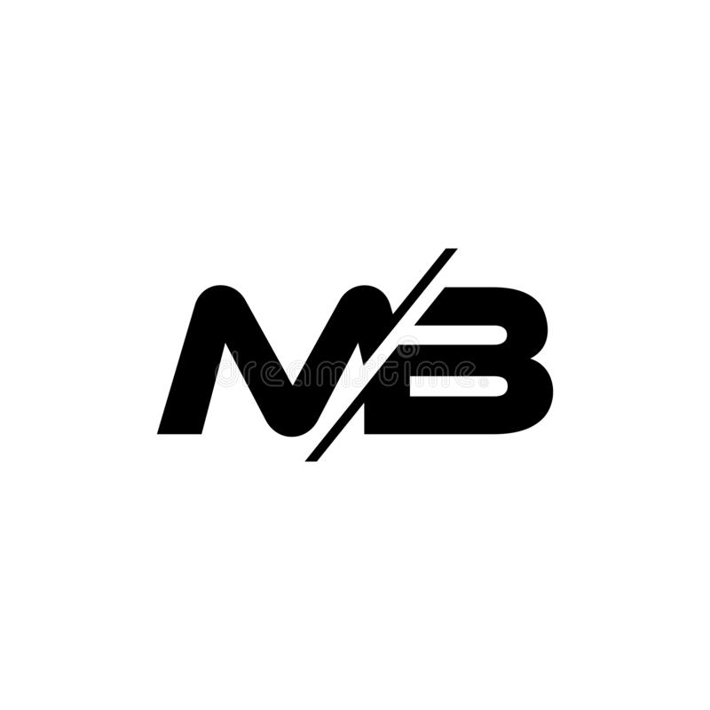 Letters mb slice geometric logo vector. Unique unusual elegant luxury design concept vector illustration