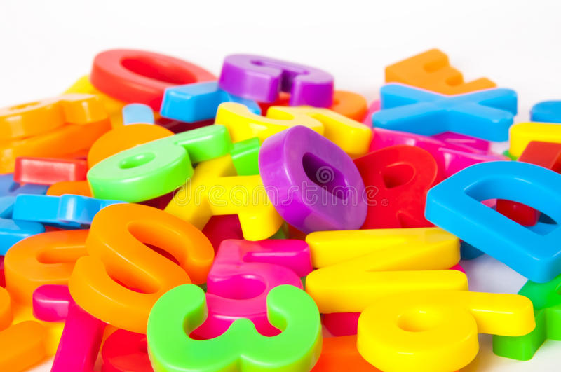 Download Letters and numbers stock image. Image of school, rainbow - 27292371