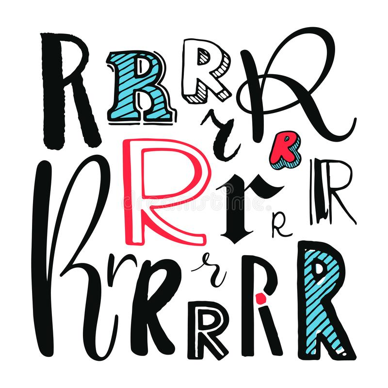 Download Letters R Set Stock Vector Illustration Of Character