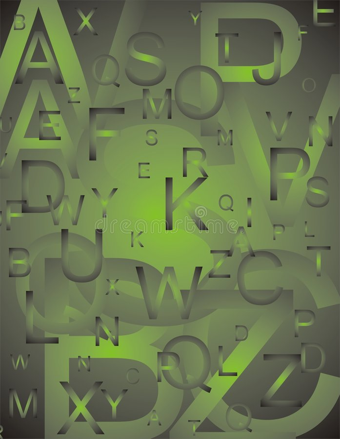 Free Letters Set Green Royalty Free Stock Image - 7223136