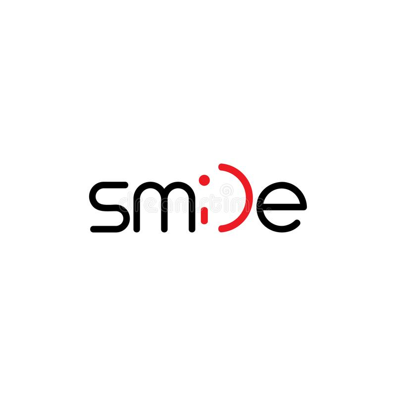 Letters smile symbol logo vector royalty free stock image