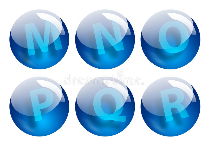 Download Letters spheres stock illustrationer. Illustration av inom - 522054