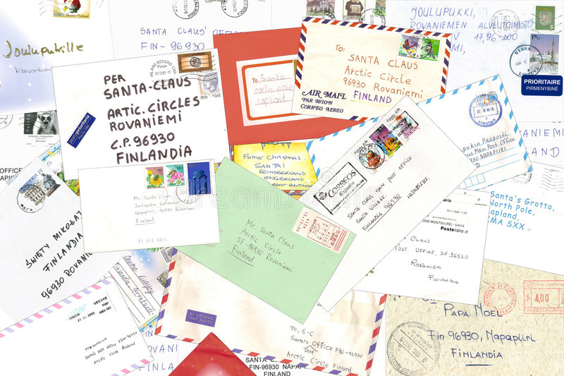 Letters To Santa Claus Stock Image