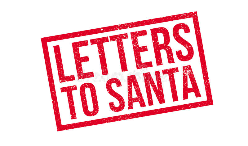 Letters To Santa rubber stamp. Grunge design with dust scratches. Effects can be easily removed for a clean, crisp look. Color is easily changed vector illustration