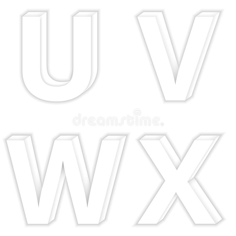 Font color White Modern stock illustration