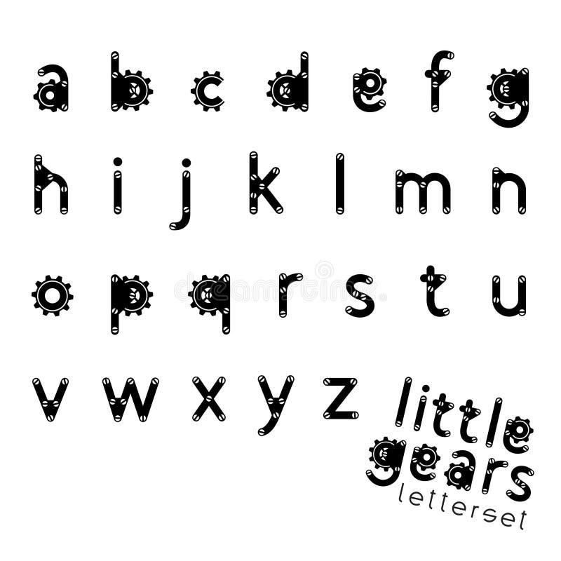 Letterset TROCHĘ przekładnie ilustracja wektor
