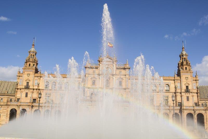 Lettersoort van het Vierkant van Spanje (Sevilla, Spanje) stock foto
