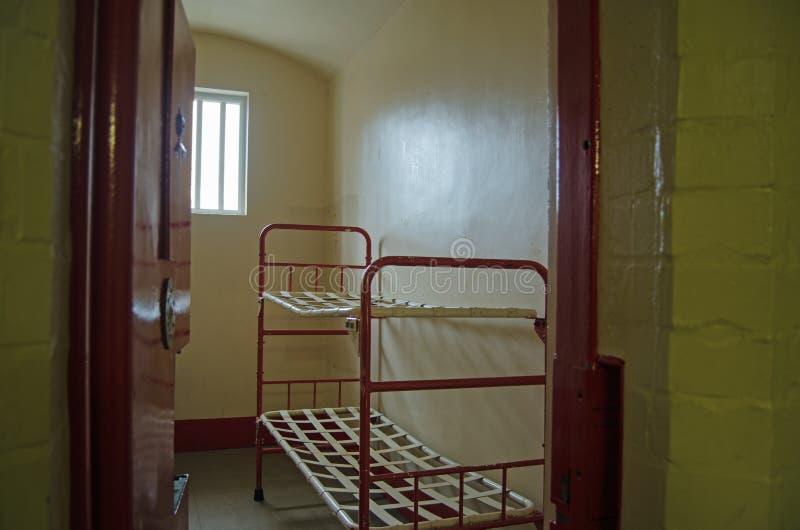 Letti di cuccetta della prigione fotografia stock