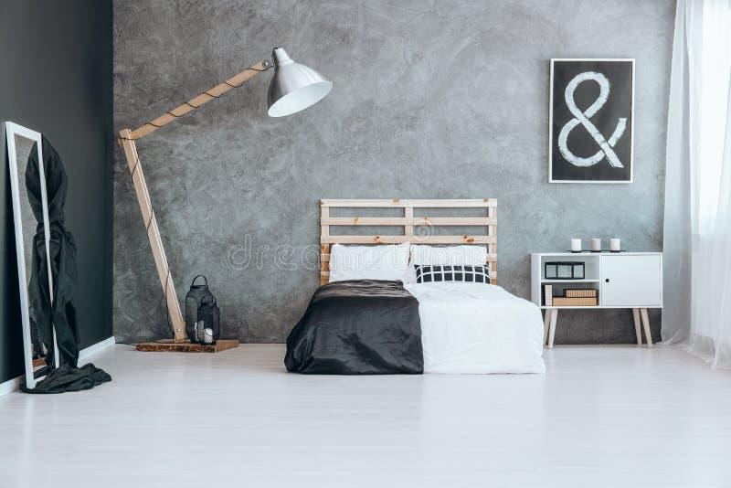 Lettiera in bianco e nero fotografia stock