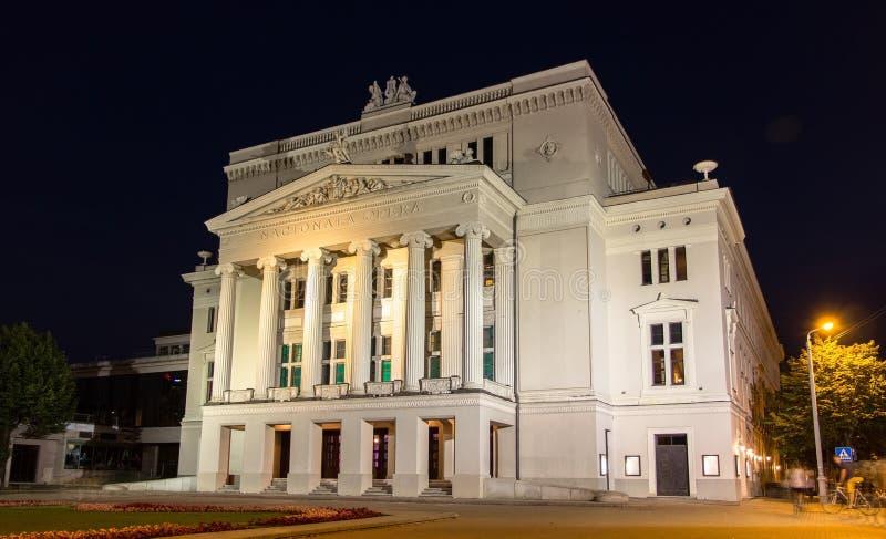 Lettische nationale Oper stockbilder