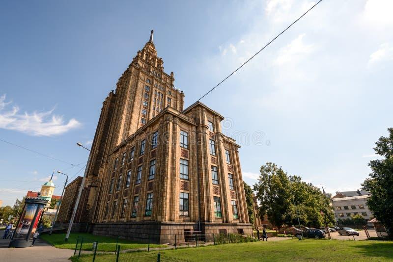 Lettisk akademi av vetenskaper i Riga fotografering för bildbyråer