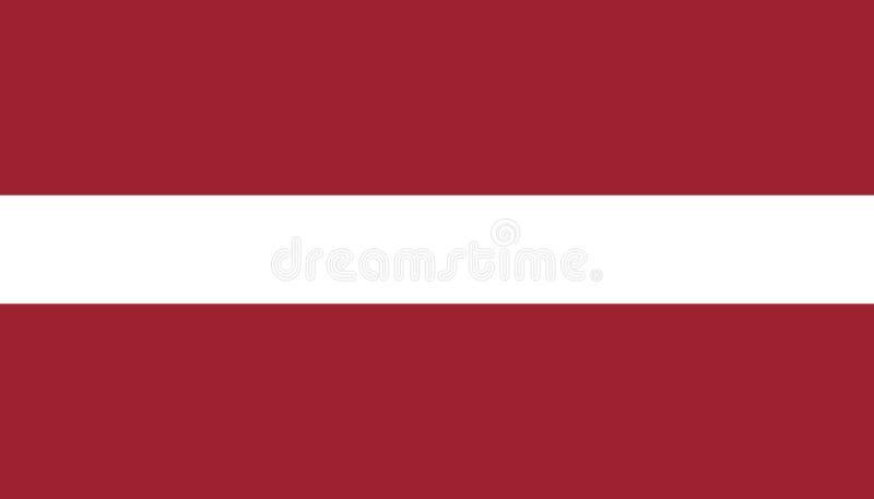 Lettland flaggasymbol i plan stil Nationell teckenvektorillustration Klok aff?rsid? stock illustrationer