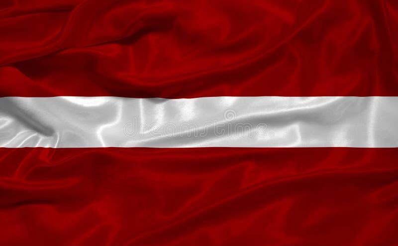 Lettland-Markierungsfahne 3 stock abbildung