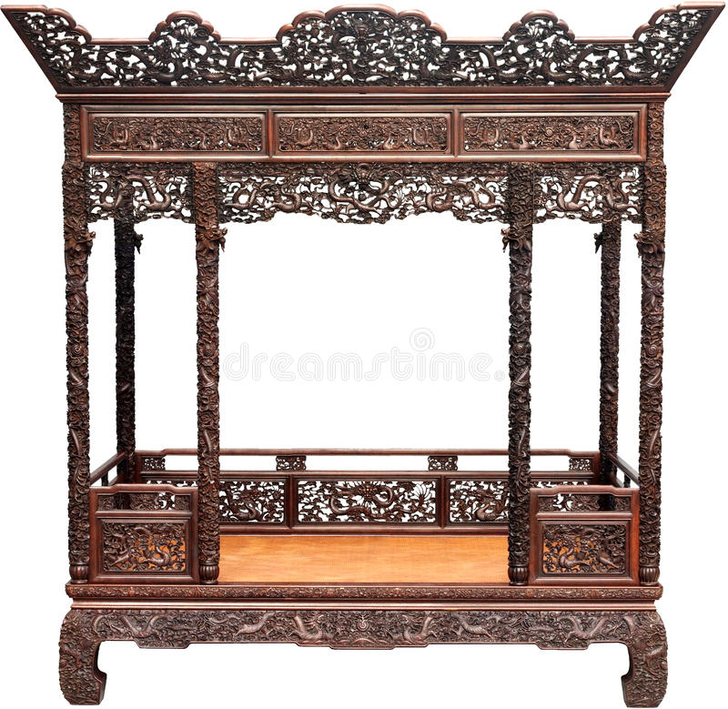Letto antico cinese fotografie stock libere da diritti for Casa tradizionale cinese