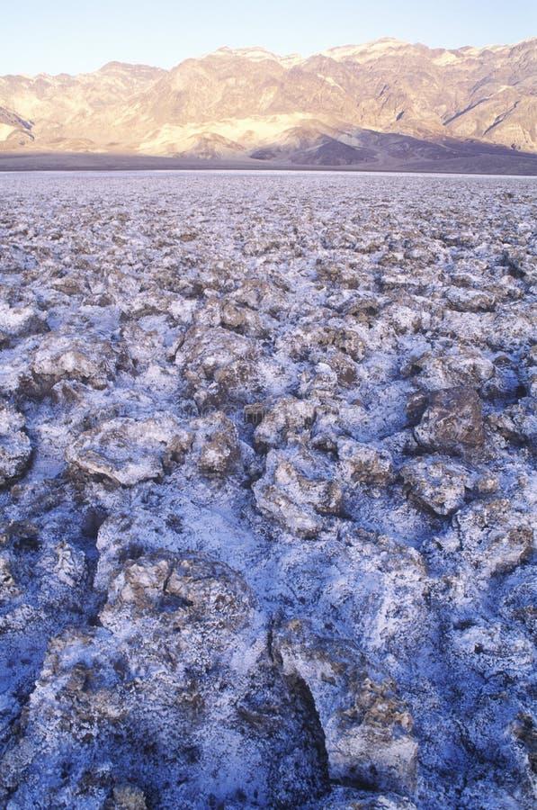 Letto di lago asciutto, Death Valley, California fotografie stock libere da diritti
