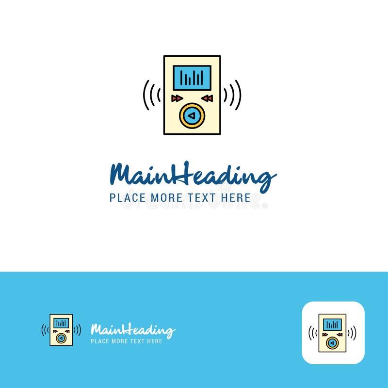 Lettore creativo Logo Design Posto piano di logo di colore per il Tagline Illustrazione di vettore royalty illustrazione gratis