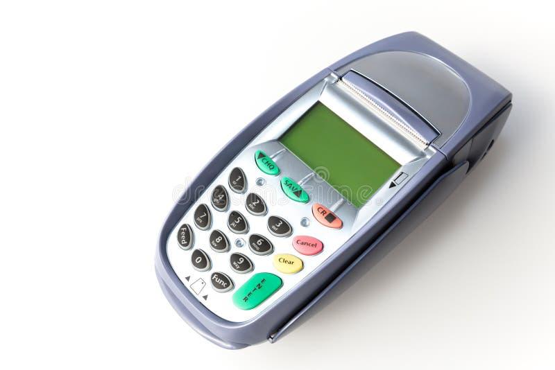 Lettore della carta di credito fotografie stock