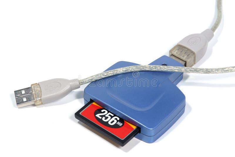 Lettore della scheda di memoria del USB fotografia stock libera da diritti