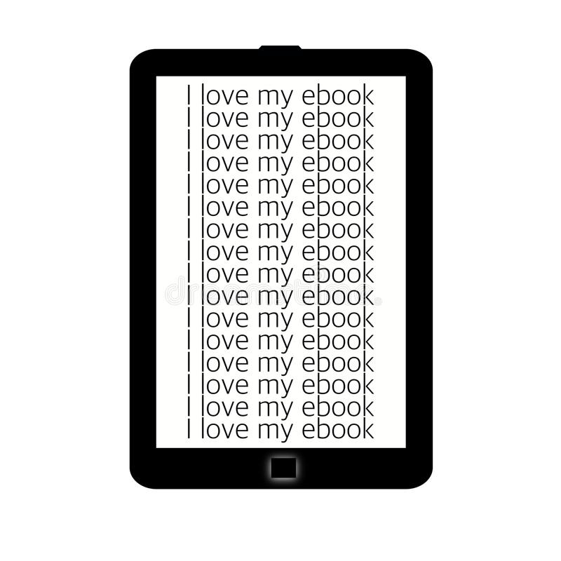 Lettore di Ebook fotografia stock libera da diritti