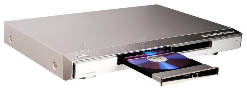 Lettore DVD con il cassetto aperto fotografia stock