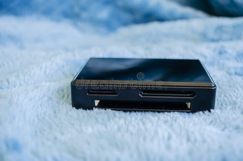 Lettore nero della Multi-carta immagine stock