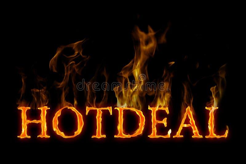Lettrage chaud d'affaire brûlant anglais sur le feu photo libre de droits