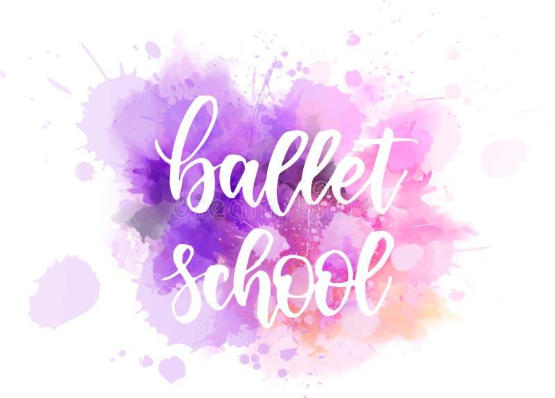Lettrage d'école de ballet illustration stock