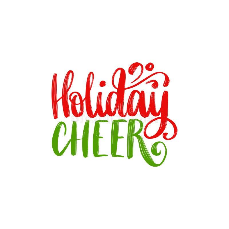 Lettrage d'acclamation de vacances Illustration de Noël de vecteur Bonnes fêtes carte de voeux, calibre d'affiche illustration de vecteur