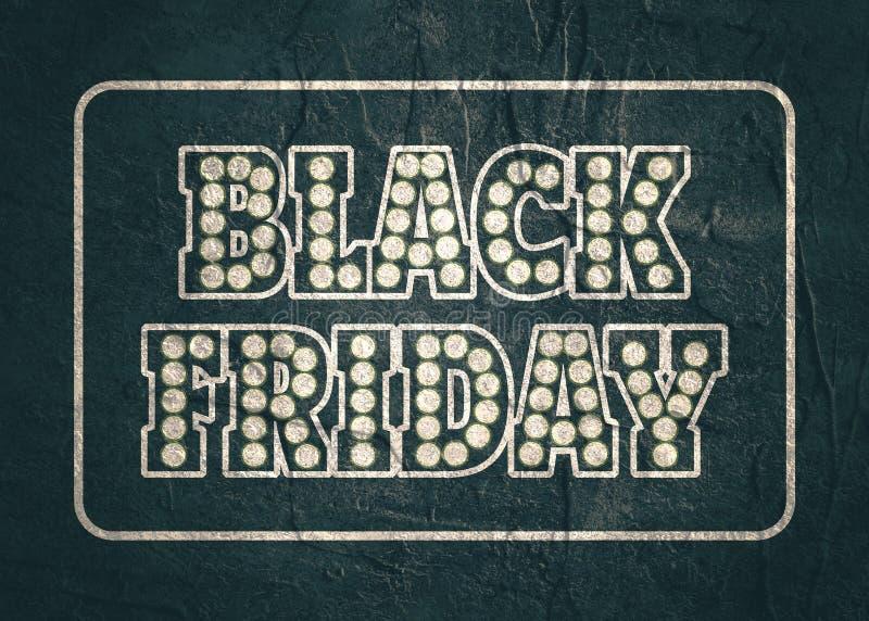 Lettrage de Black Friday images stock