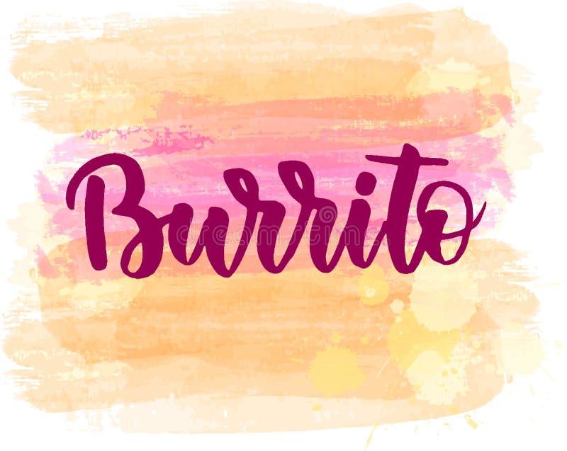 Lettrage de Burrito illustration de vecteur