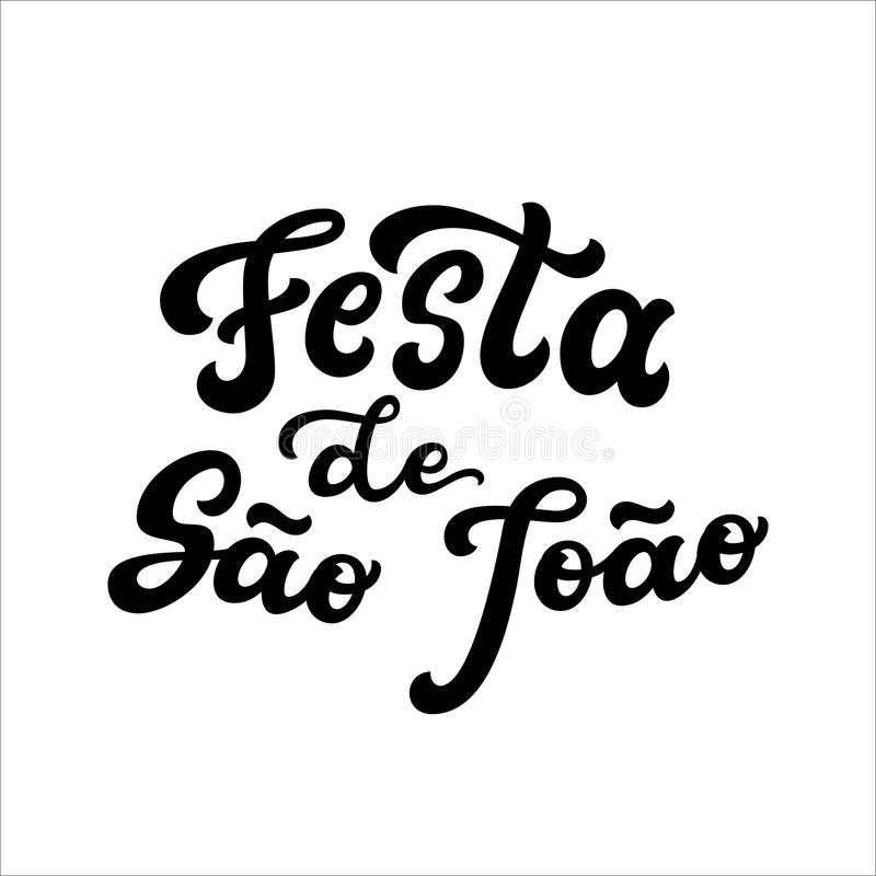 Lettrage de Festa de Sao Joao illustration stock