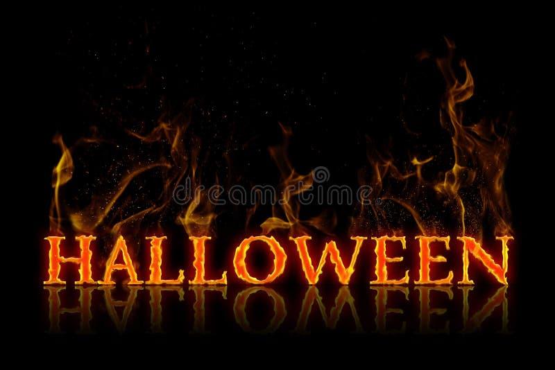 Lettrage de Halloween dans l'anglais images stock