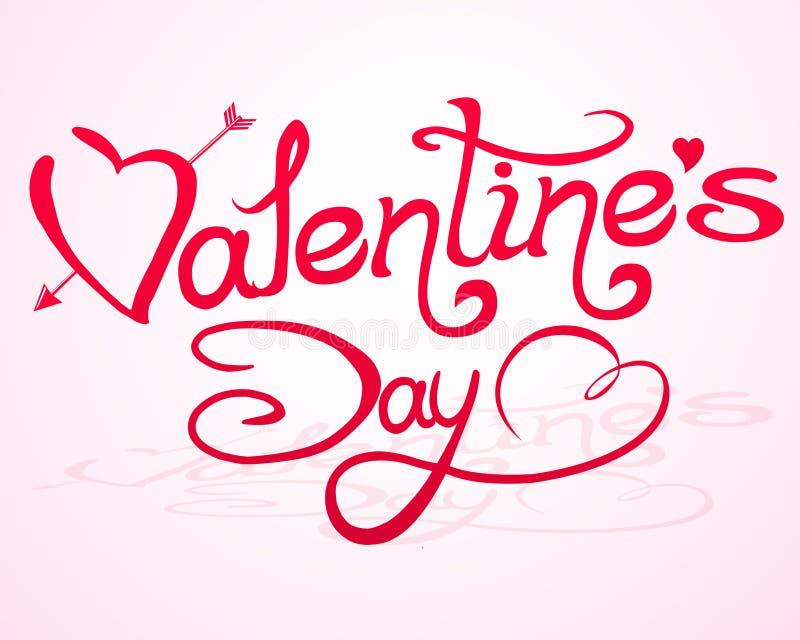 Lettrage de jour du `s de Valentine avec les coeurs abstraits illustration libre de droits